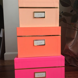 Kate Spade Pink Nesting Boxes, set of 3
